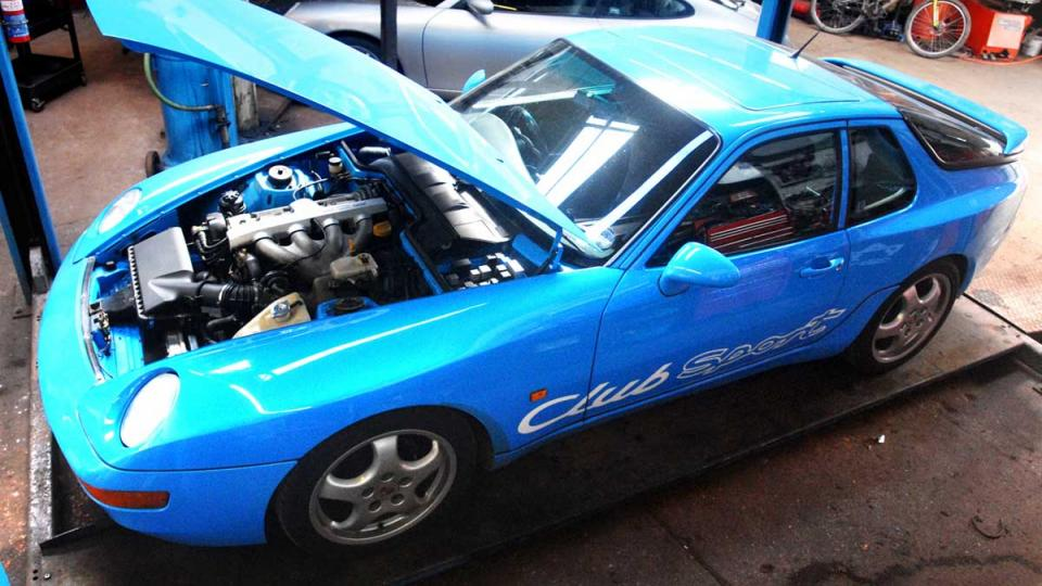 Porsche 968 service and MOT repair at Braunton Engineering Devon
