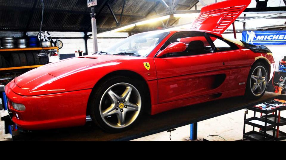 Ferrari 355 visits Devon for servicing and repair with MOT test