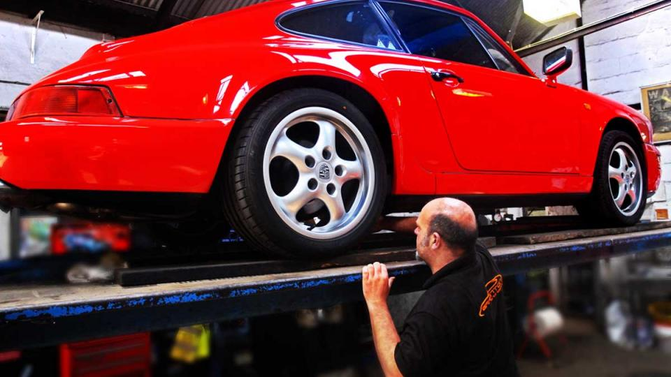 Porsche inspection to ensure safety and vehicle condition