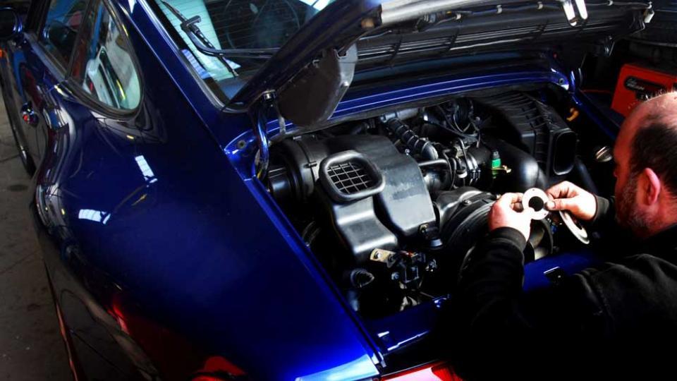 fitting the alternator belt at service time