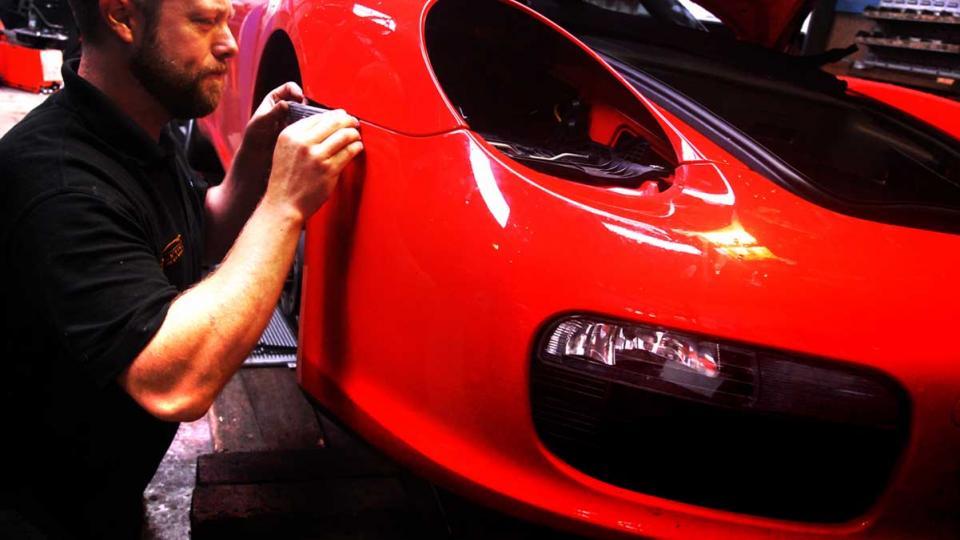 air conditioning repair for a Porsche Boxster