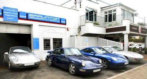 MOT testing Porsche cars in Braunton, Devon