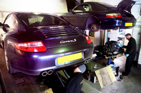 Porsche MOT test at Porsche specialist with its own testing station in Devon