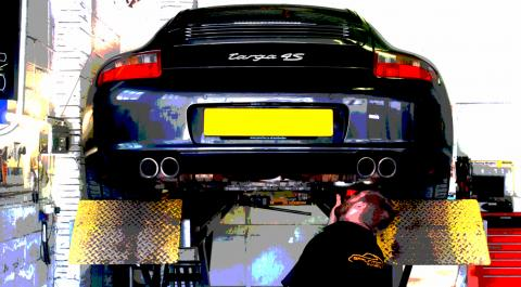 Dave inspects a Carrera Nine Eleven prior to servicing