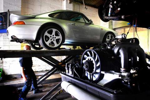 Porsche inspection of a RUF Porsche 993 by Braunton Engineering