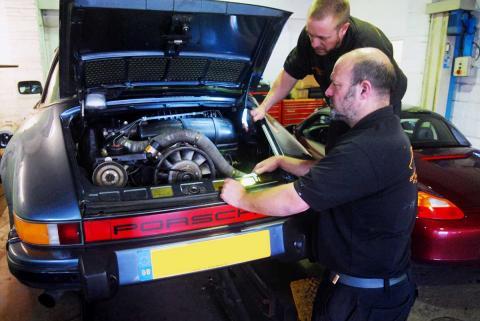 Porsche 911 serviced annually for ultimate reliability