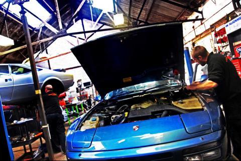 routine maintenance of the Porsche 944 each year