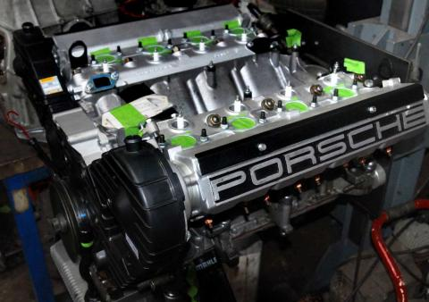 Rebuilding a Porsche 928 engine for refitting to the car