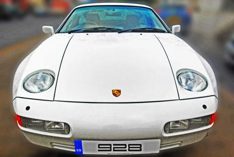 A white Porsche 928 S4 manual in Braunton for cambelt service